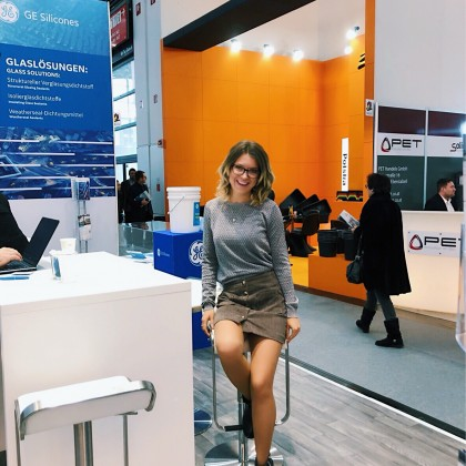 Переводчик Mila на выставке Bau Messe